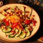 Halloumi salad- (V)