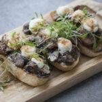 Korean Mushroom Crostini